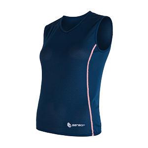 SENSOR COOLMAX AIR dámské triko bez rukávu tm.modrá