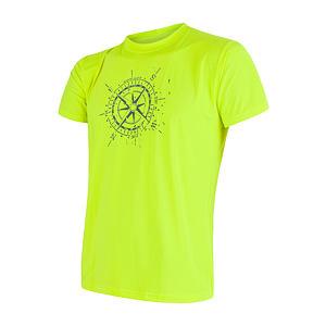 SENSOR COOLMAX FRESH PT COMPASS pánské triko kr.rukáv reflex žlutá