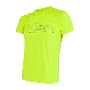 SENSOR COOLMAX FRESH PT GPS pánské triko kr.rukáv reflex žlutá