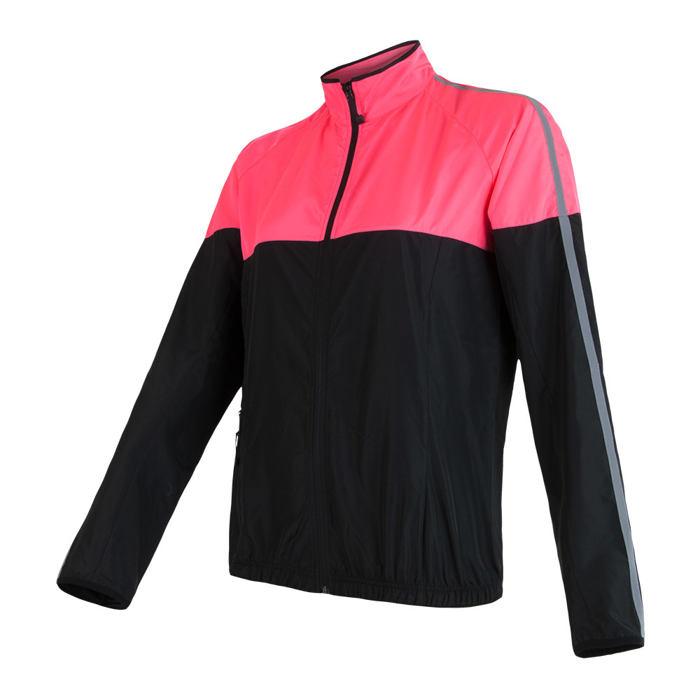 SENSOR NEON dámská bunda černá/reflex růžová