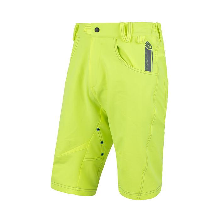 SENSOR CYKLO CHARGER pánské kalhoty krátké volné reflex žlutá