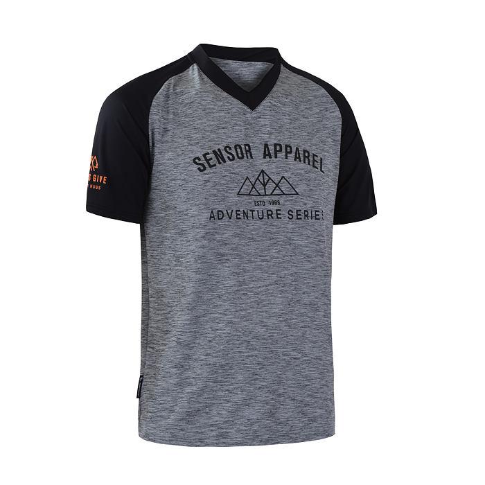 SENSOR CYKLO CHARGER pánský dres volný kr. rukáv šedá/černá
