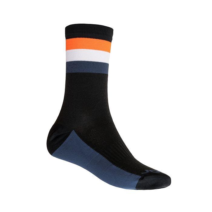 SENSOR PONOŽKY COOLMAX SUMMER STRIPE černá/oranžová