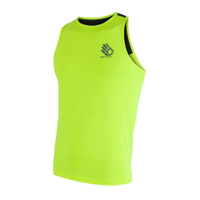 SENSOR COOLMAX FRESH PT HAND pánské triko bez rukávů reflex žlutá/černá