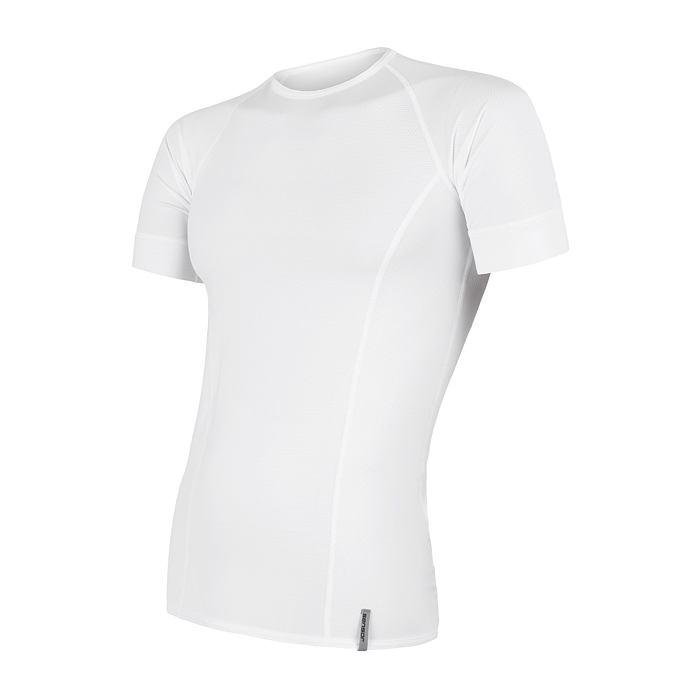 SENSOR COOLMAX TECH pánské triko kr.rukáv bílá