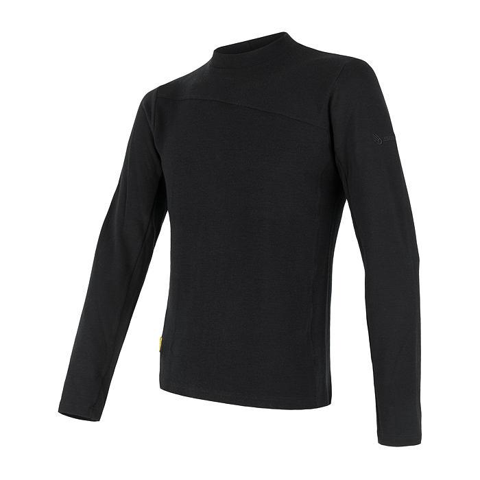 SENSOR MERINO EXTREME pánské triko dl.rukáv černá