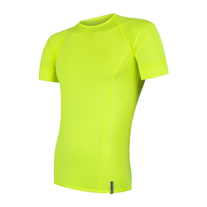 SENSOR COOLMAX TECH pánské triko kr.rukáv reflex žlutá
