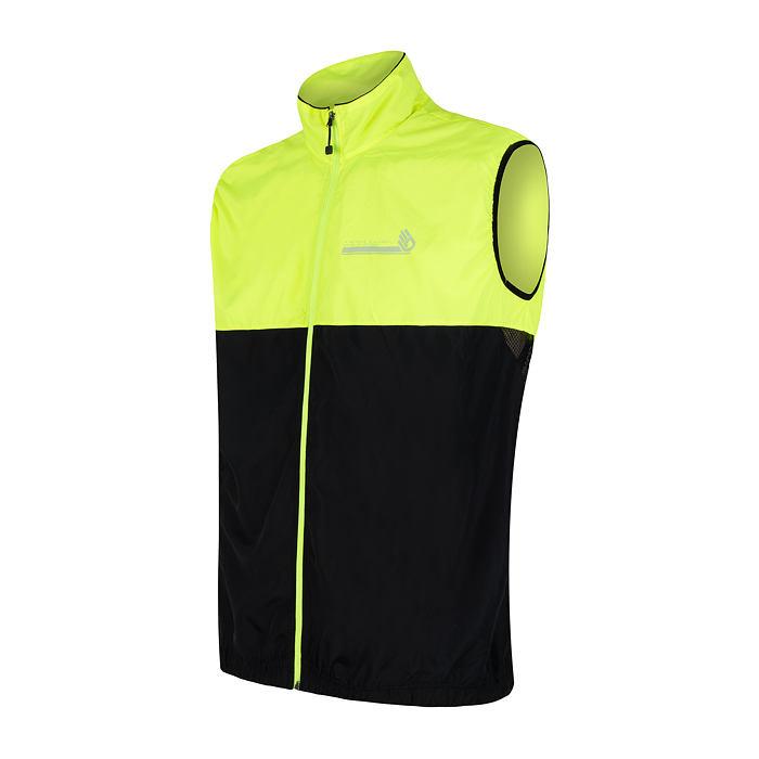 SENSOR NEON pánská vesta černá/reflex žlutá