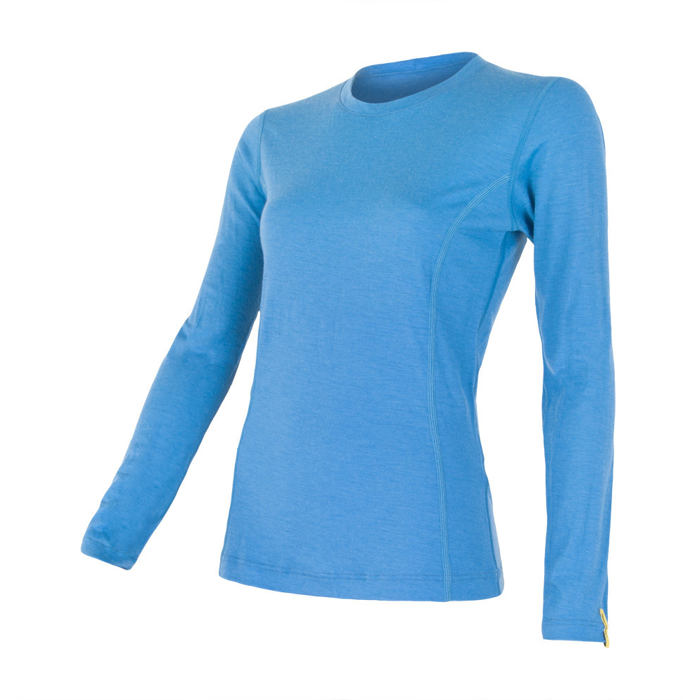 SENSOR MERINO ACTIVE dámské triko dl.rukáv modrá