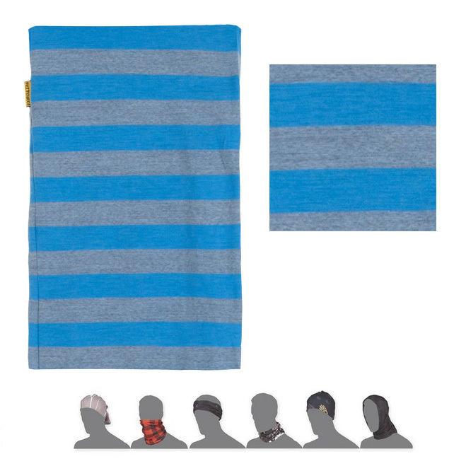 SENSOR TUBE MERINO WOOL šátek multifunkční modrá pruhy
