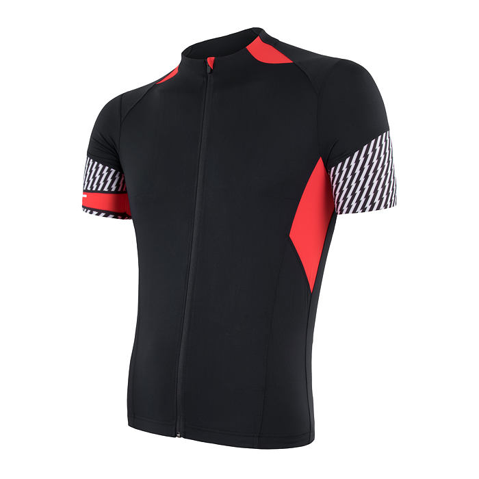 SENSOR CYKLO RACE pánský dres kr.ruk. černá/červená